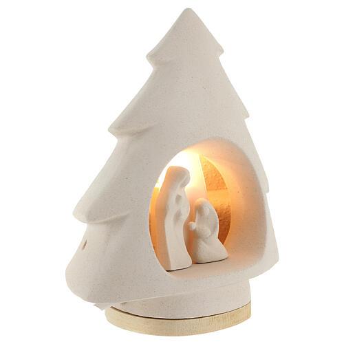 Árbol de navidad con luz, en arcilla 4