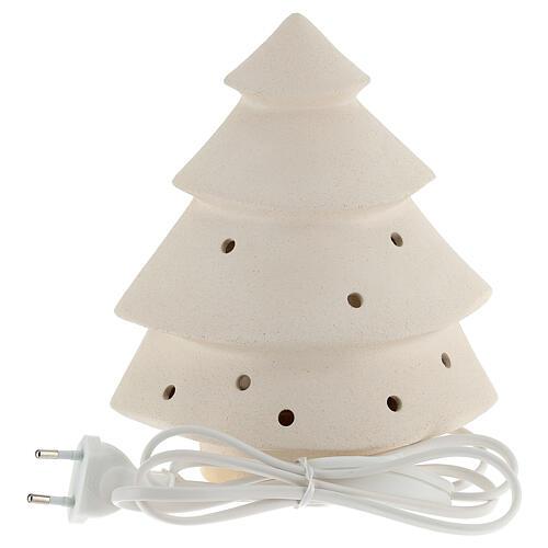 Árbol de navidad con luz, en arcilla 5
