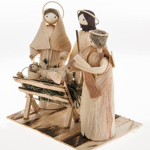 Pesebre estilizado con ángel hecho de la hoja del maiz 3