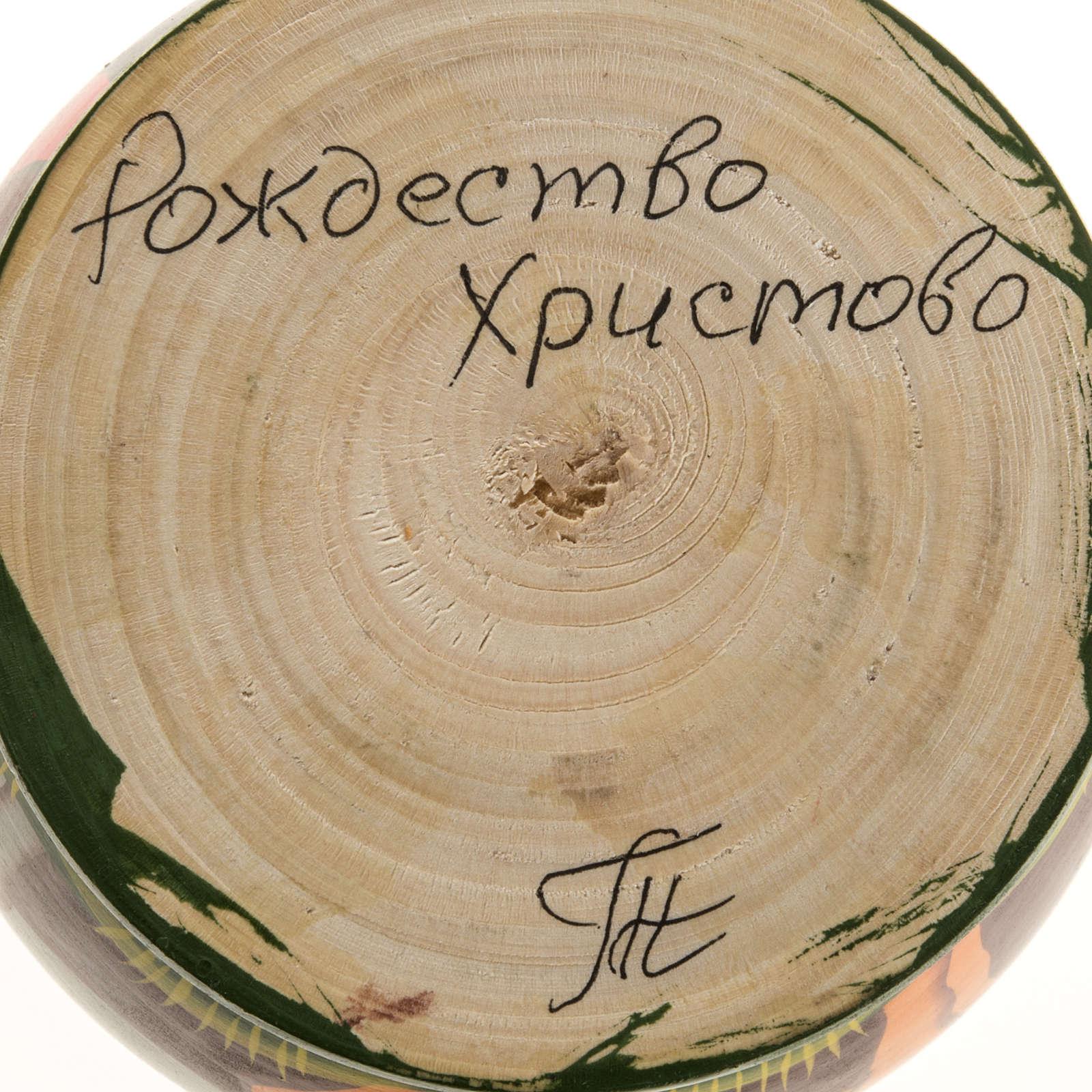 Presepe russo con Matrioska dipinto a mano 4