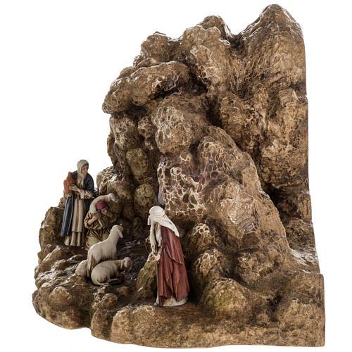 Presepe Landi completo con grotta 11 cm 8