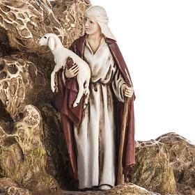 Landi Nativity set with grotto 11cm s3