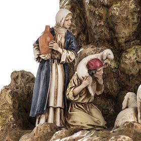 Landi Nativity set with grotto 11cm s4