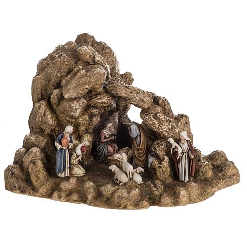 Landi Nativity set with grotto 11cm 1