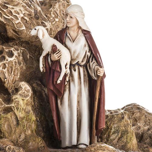 Landi Nativity set with grotto 11cm 3