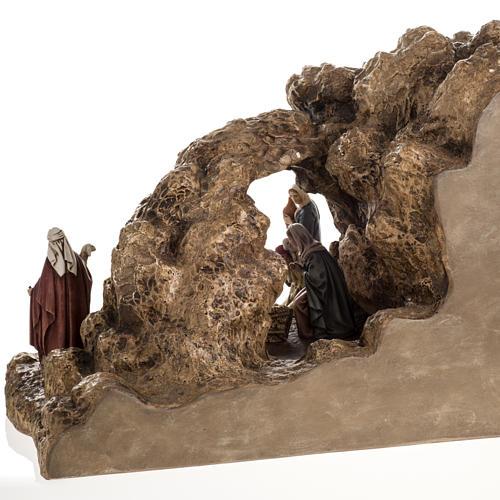 Landi Nativity set with grotto 11cm 5