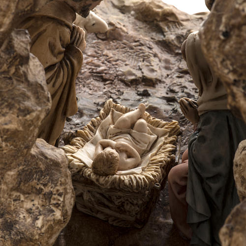 Landi Nativity set with grotto 11cm 6