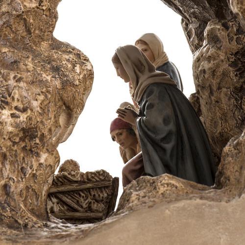 Landi Nativity set with grotto 11cm 7