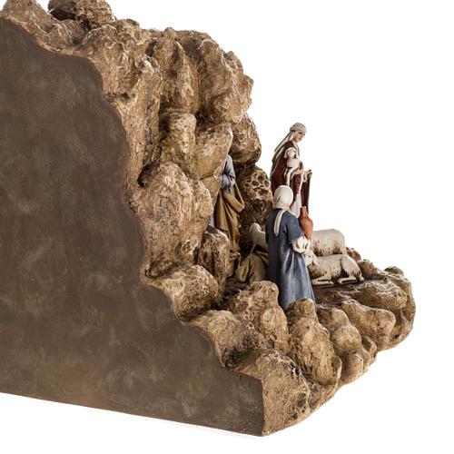 Landi Nativity set with grotto 11cm 9