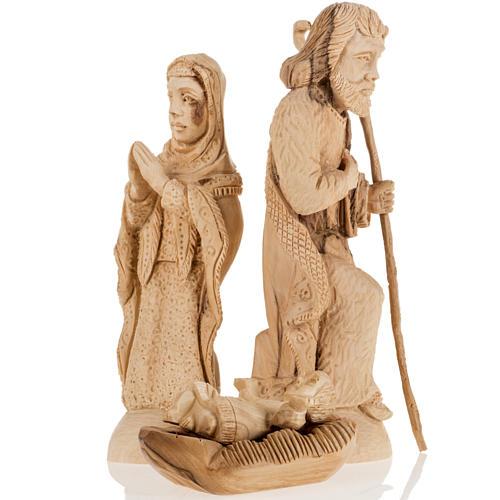 Szopka komplet z grotą 14 cm drewno oliwne Betlejem 6