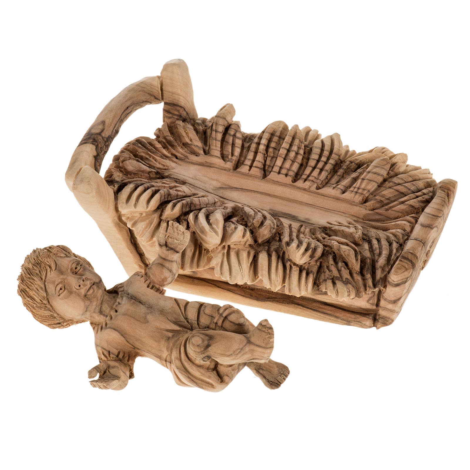 Presepe completo legno olivo Betlemme 30 cm 4