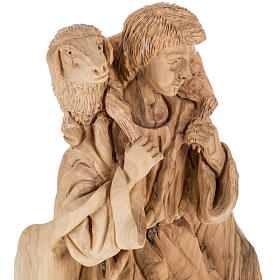 Presepe completo legno olivo Betlemme 30 cm s13