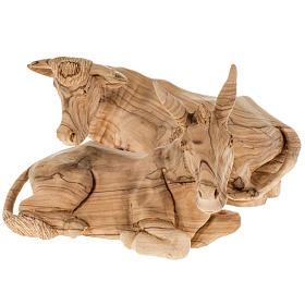 Presepe completo legno olivo Betlemme 30 cm s14
