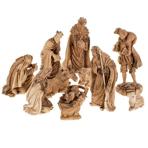 Presepe completo legno olivo Betlemme 30 cm 1