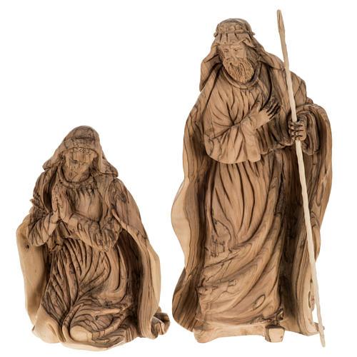 Presepe completo legno olivo Betlemme 30 cm 5