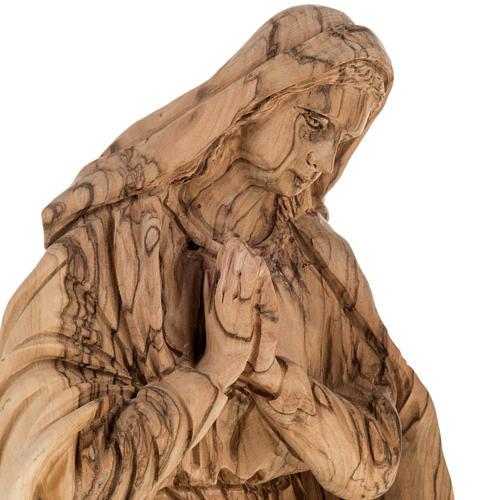 Presepe completo legno olivo Betlemme 30 cm 6