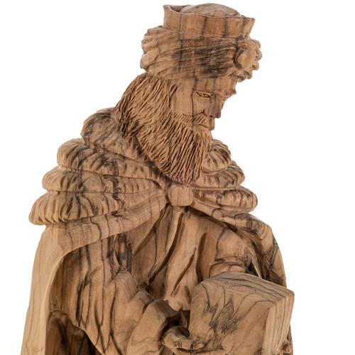 Presepe completo legno olivo Betlemme 30 cm 9