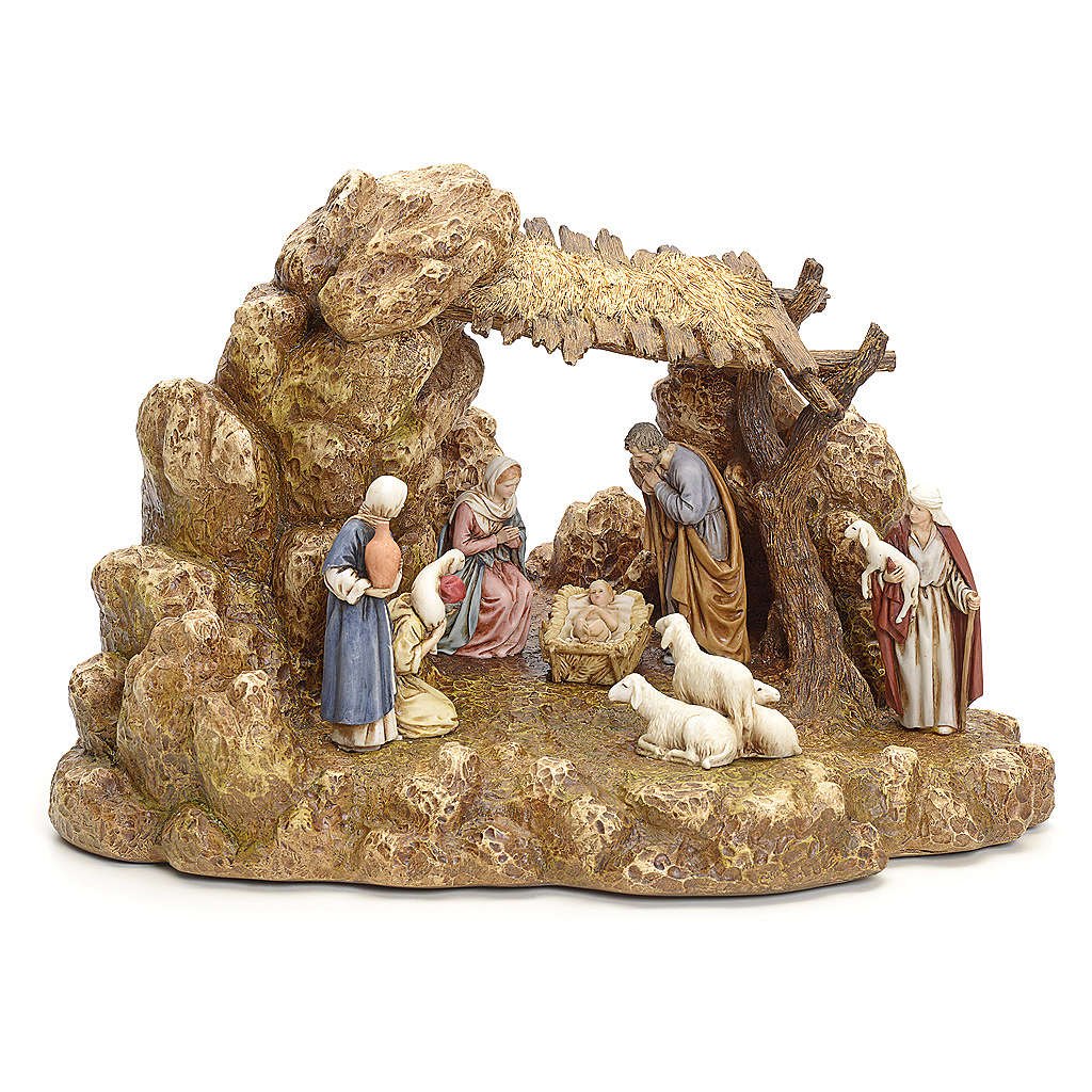 Nativity scene with stable by Landi, 11cm 4