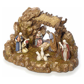 Nativity scene with stable by Landi, 11cm s6