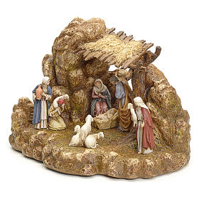 Nativity scene with stable by Landi, 11cm s2
