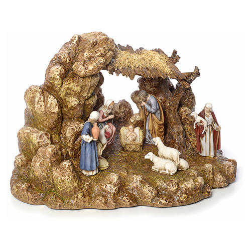 Nativity scene with stable by Landi, 11cm 5