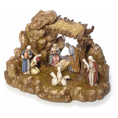 Nativity scene with stable by Landi, 11cm 6