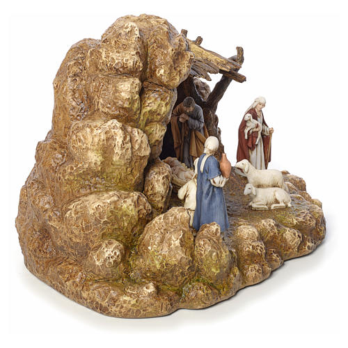 Nativity scene with stable by Landi, 11cm 8