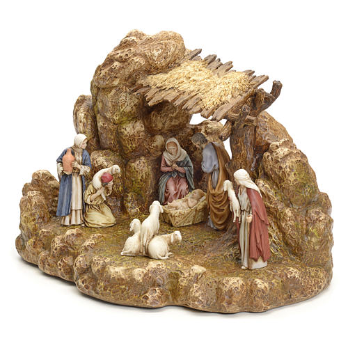 Nativity scene with stable by Landi, 11cm 10