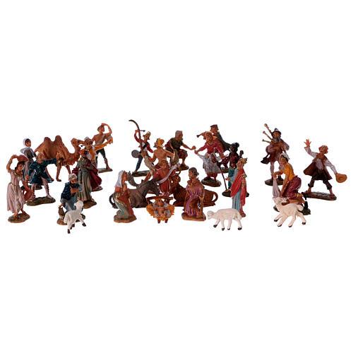 Crèche Fontanini 4 cm, 28 santons 1