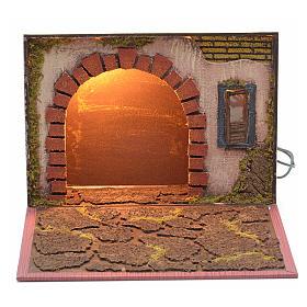 Arco iluminado para pesebre forma libro 19x24x8cm s1