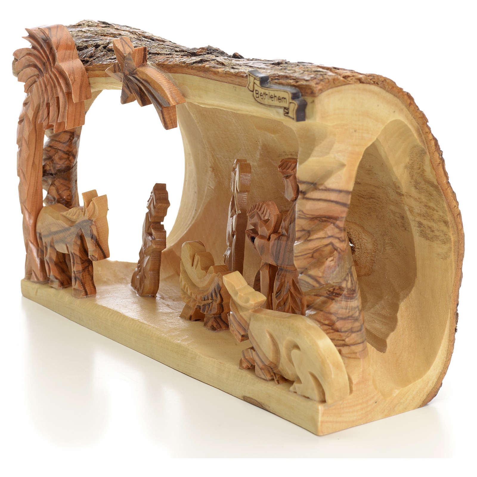 Nativity Scene Holy Land Olive Tree In Log Online Sales