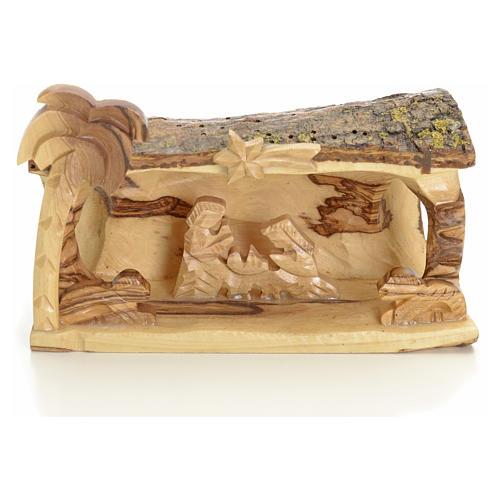 Sainte Famille en morceau bois d'olivier de Terre Sainte 1