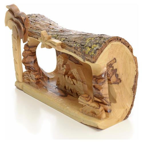 Sainte Famille en morceau bois d'olivier de Terre Sainte 2