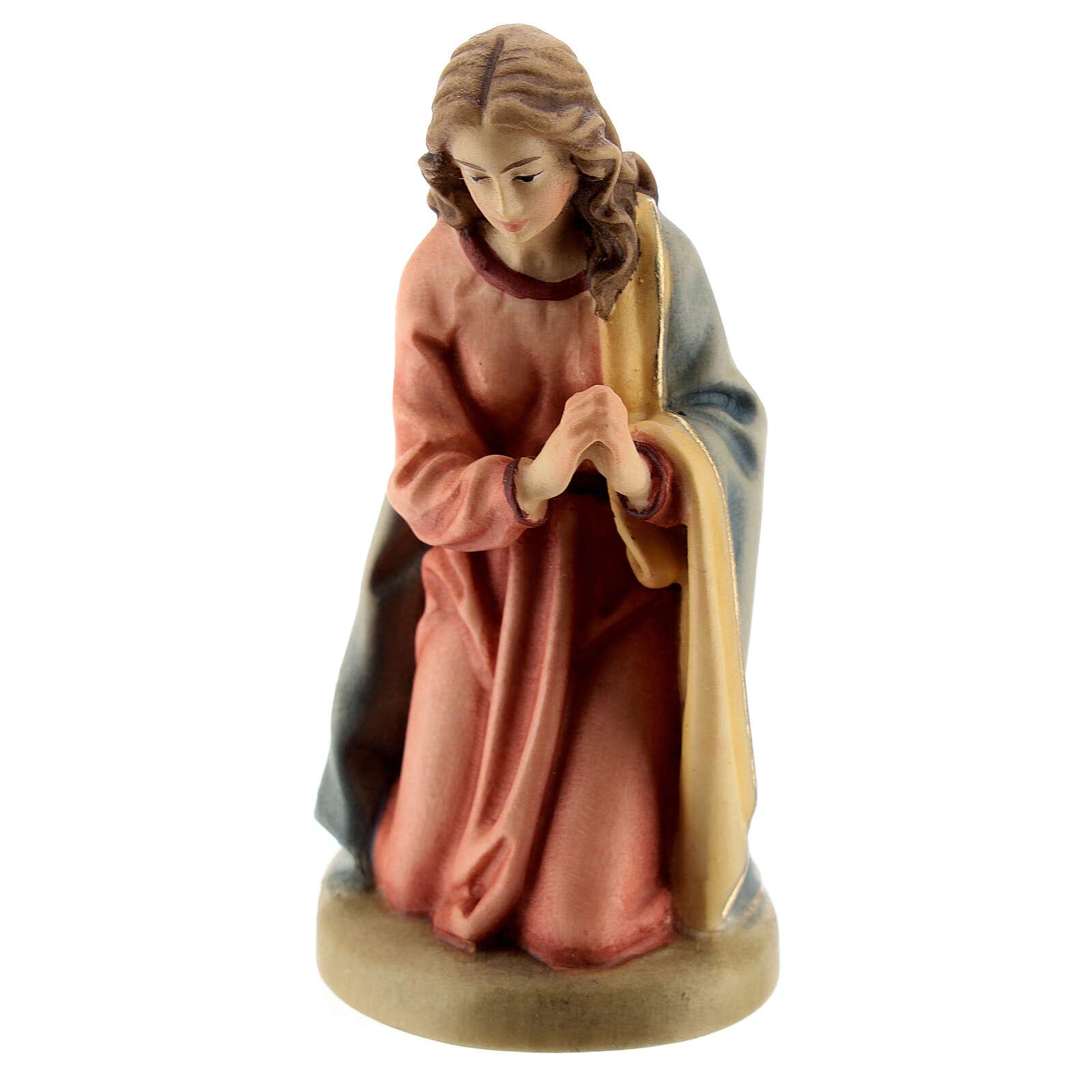Maria 12 cm madeira presépio mod. Val Gardena 4