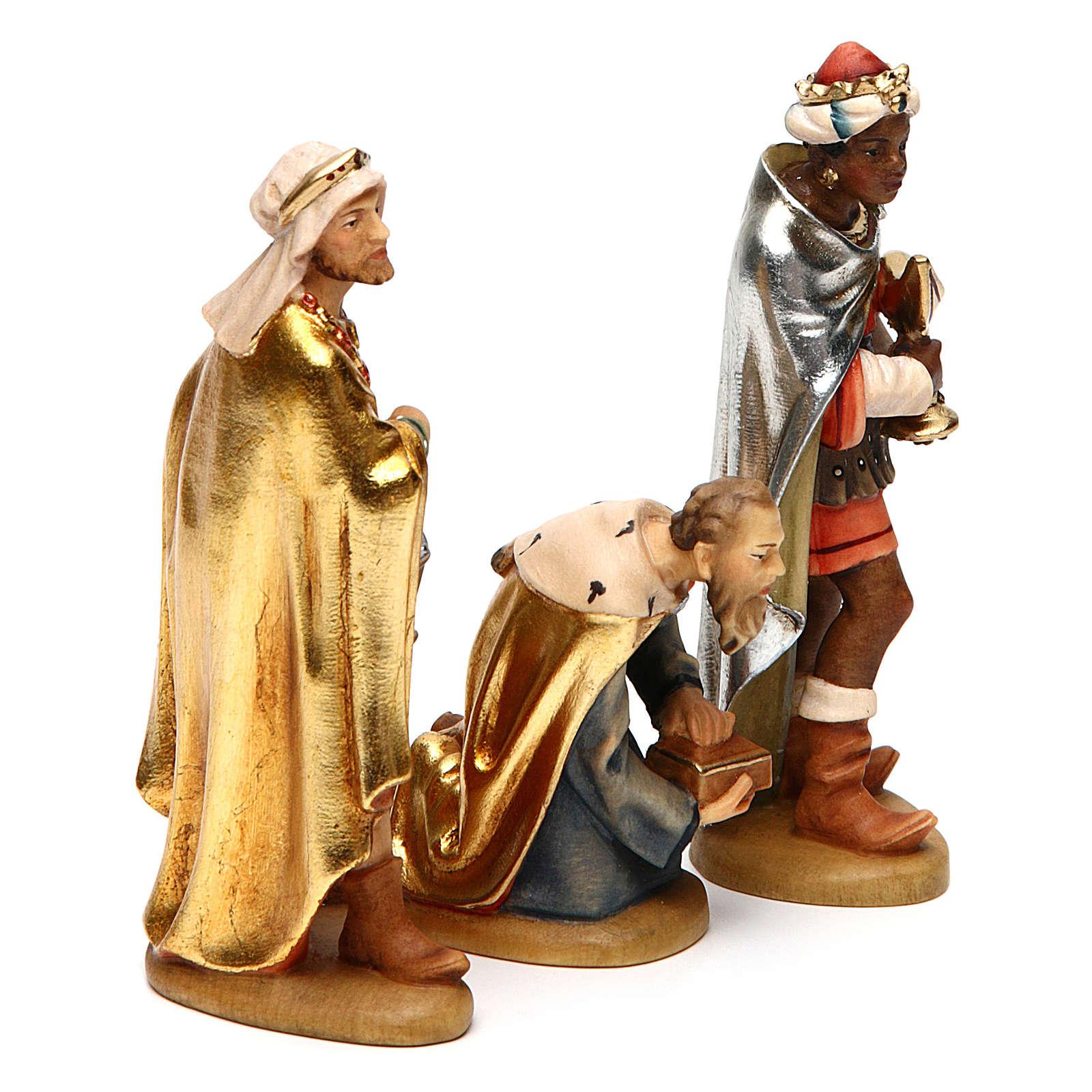 Tre Re Magi 12 cm legno presepe mod. Valgardena 4