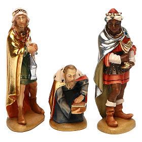 Tre Re Magi 12 cm legno presepe mod. Valgardena s1