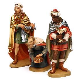 Tre Re Magi 12 cm legno presepe mod. Valgardena s3