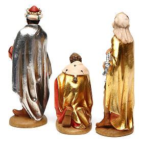 Tre Re Magi 12 cm legno presepe mod. Valgardena s5