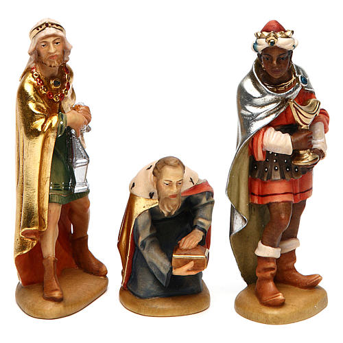 Tre Re Magi 12 cm legno presepe mod. Valgardena 1