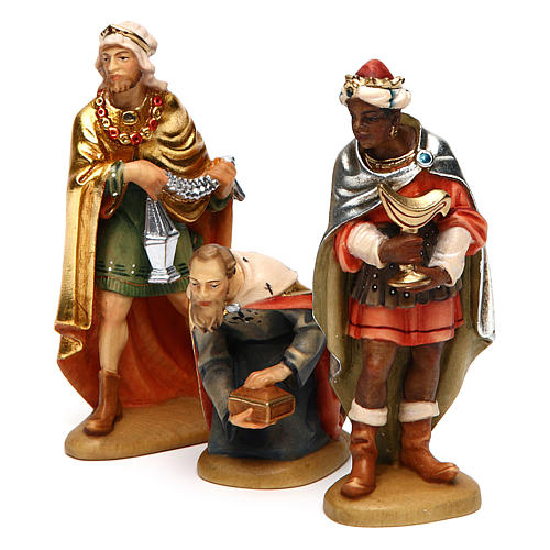 Tre Re Magi 12 cm legno presepe mod. Valgardena 3