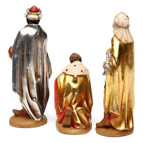 Tre Re Magi 12 cm legno presepe mod. Valgardena 5