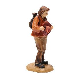 Pastore con cappello 12 cm legno presepe mod. Valgardena s2