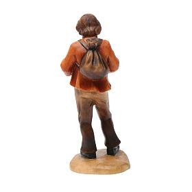 Pastore con cappello 12 cm legno presepe mod. Valgardena s3