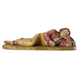 Berger endormi 12 cm bois crèche Val Gardena s1