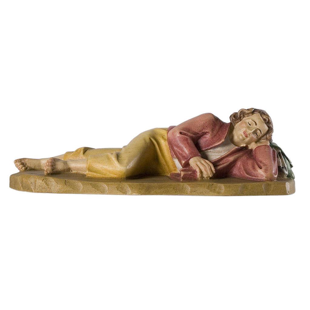 Dormiente 12 cm legno presepe mod. Valgardena 4