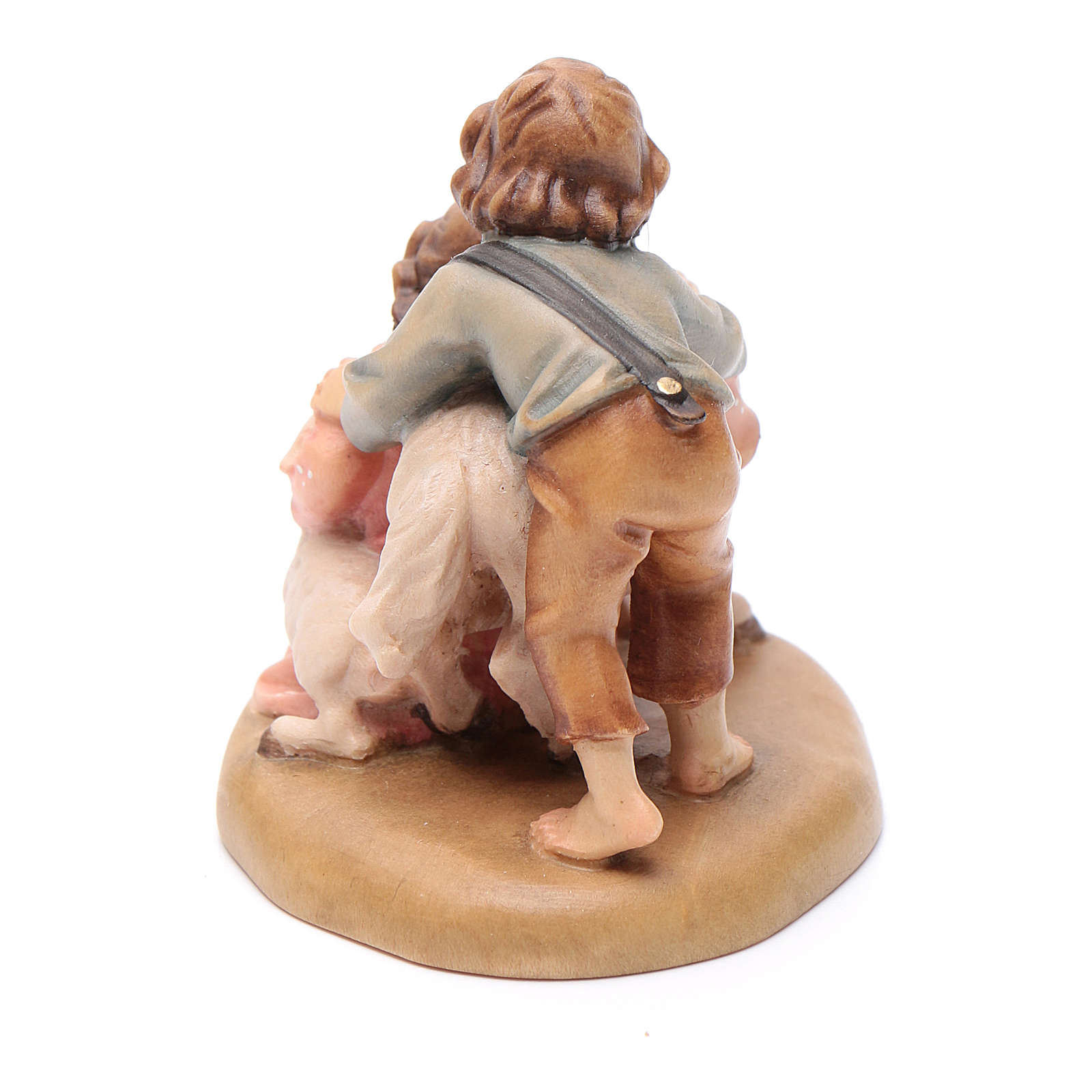 Young shepherds figurine, Val Gardena Model 12cm 4