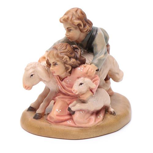 Young shepherds figurine, Val Gardena Model 12cm 2
