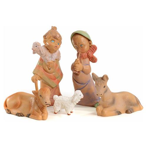 Crèche enfants 11 santons 10 cm Fontanini 4
