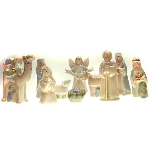 Presepe in ceramica 10 cm stile Danese 1