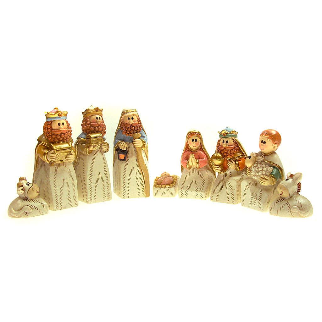 Crèche en résine 7cm 9 figurines 4